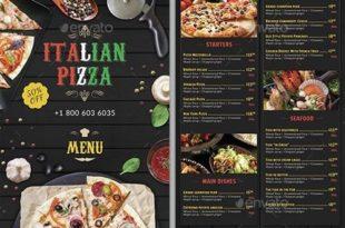 mẫu menu pizza