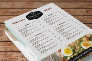 Mẫu menu vintage